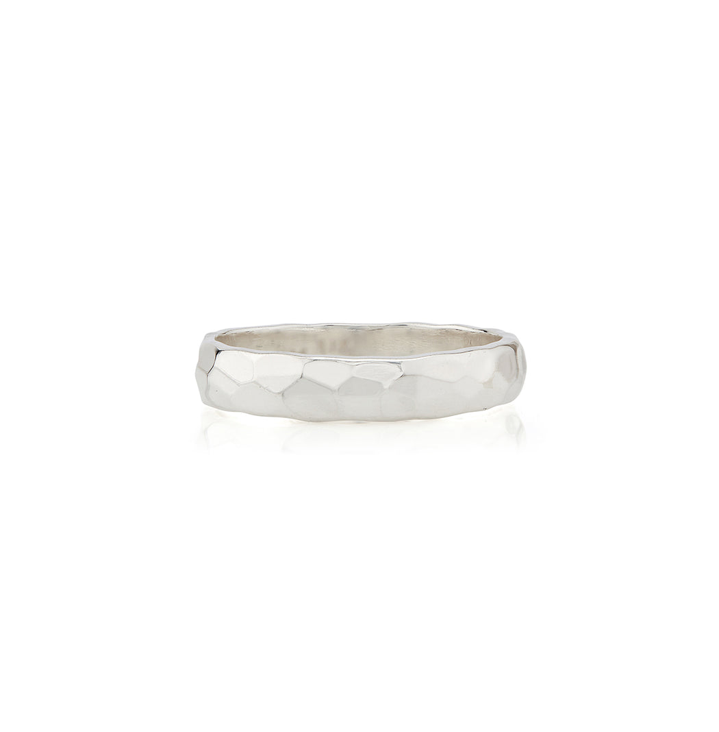 Hammered Stacking Band - Silver
