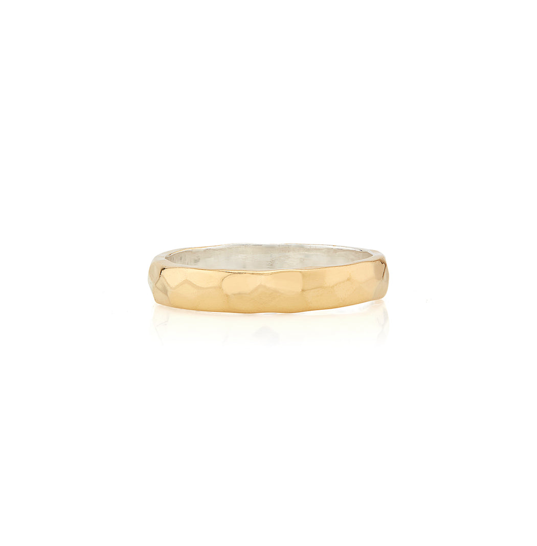 Hammered Stacking Band - Gold