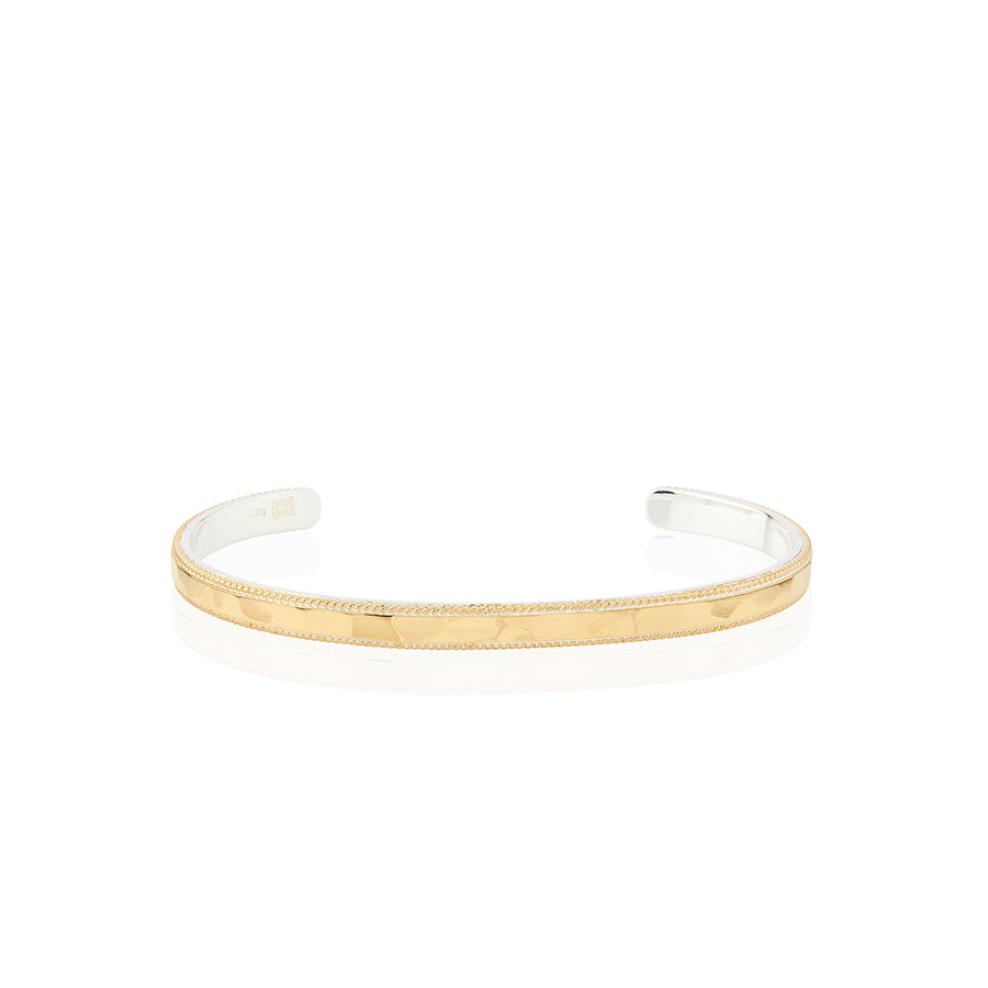 Hammered Stacking Cuff - Gold