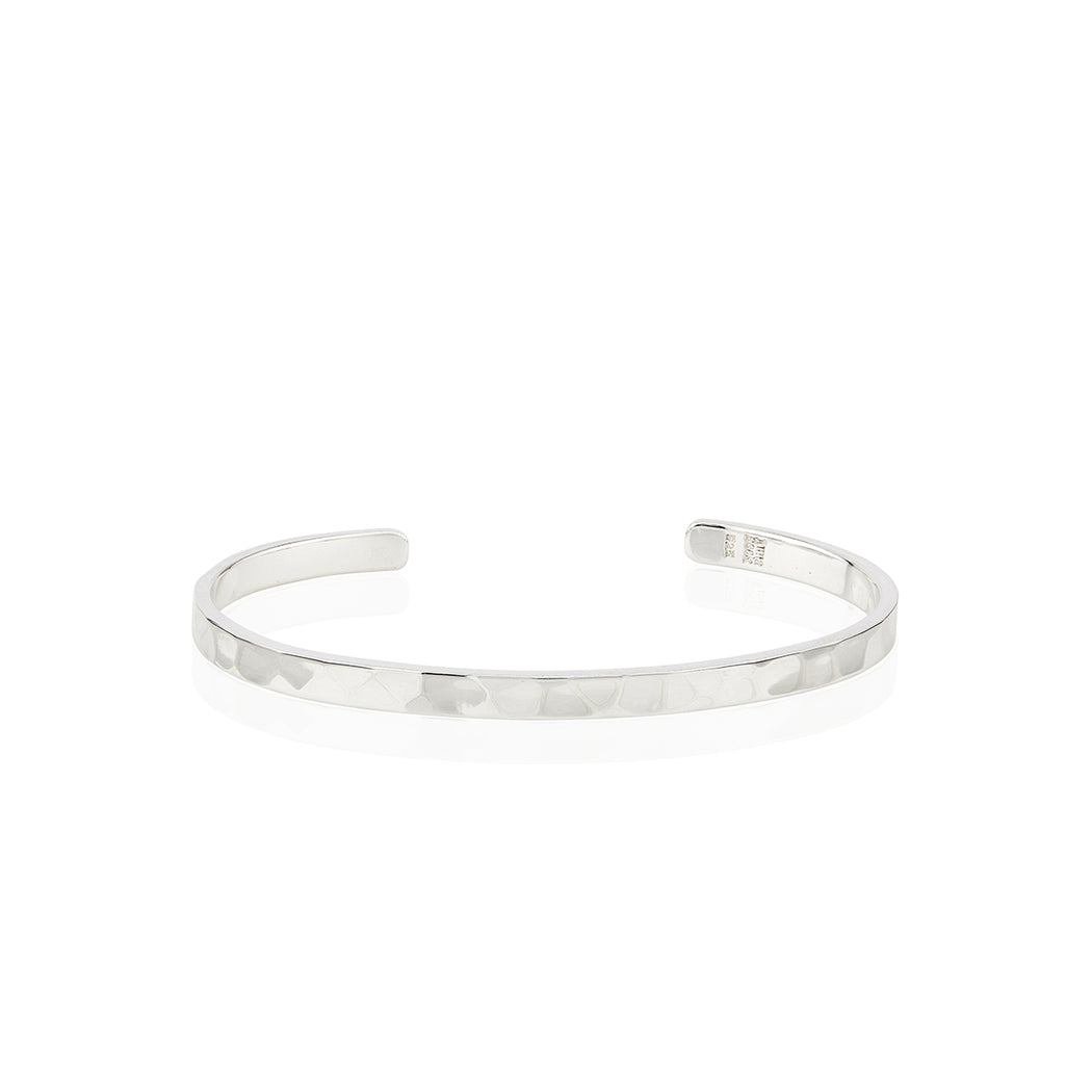 Hammered Stacking Cuff - Silver