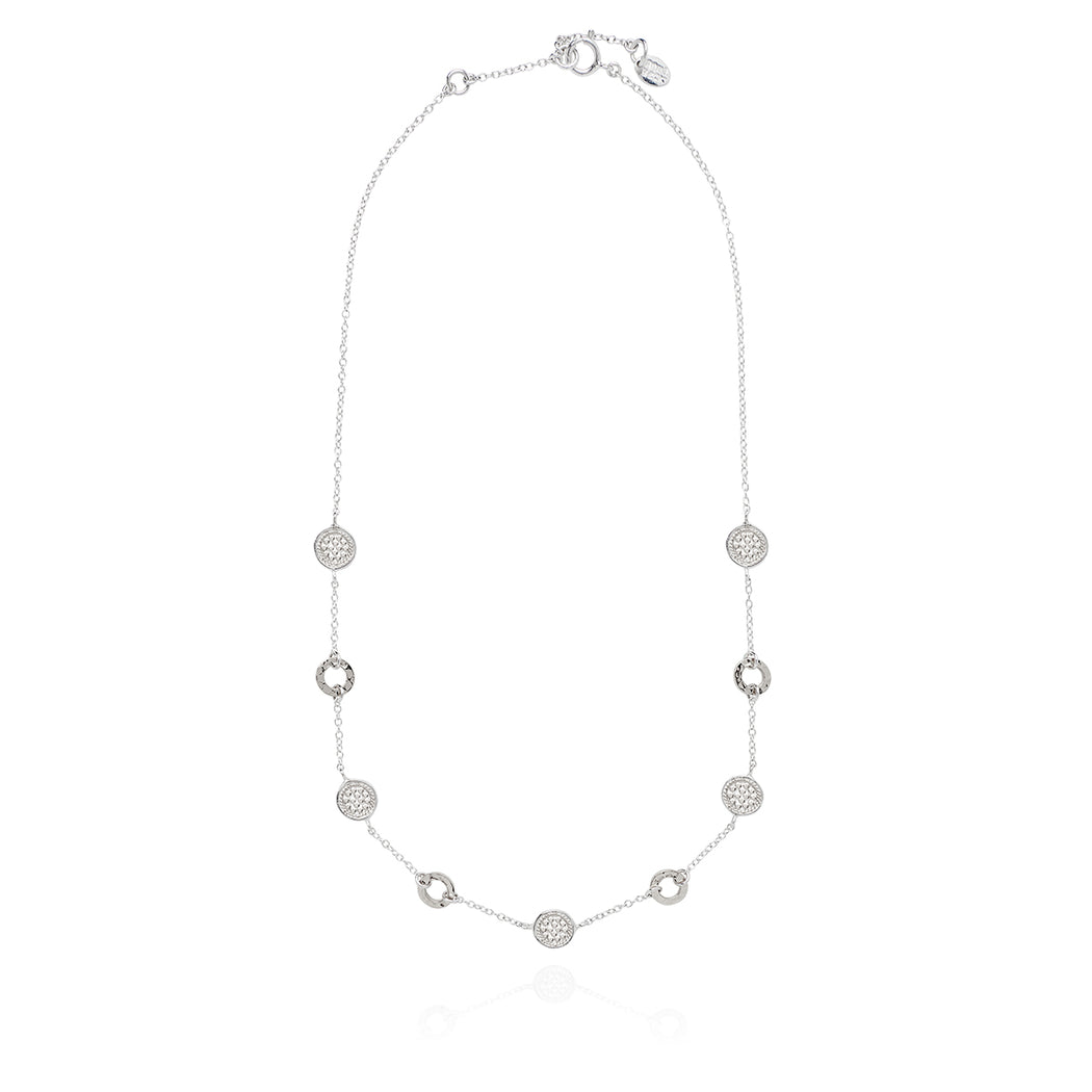 Limited Edition Hammered Collar Necklace - Silver
