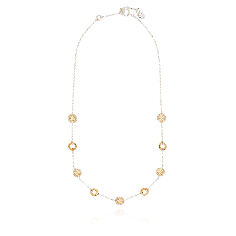 Hammered Collar Necklace - Gold