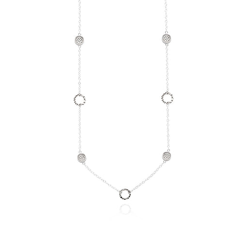 Limited Edition Hammered Station Necklace - Silver