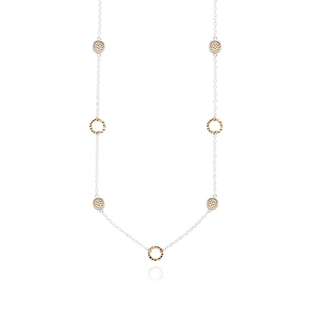 Limited Edition Hammered Station Necklace - Gold