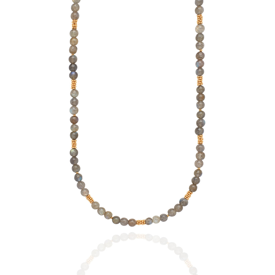 Limited Edition Long Labradorite Beaded Stacking Necklace
