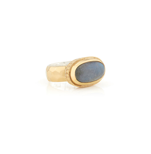 Labradorite Cocktail Ring - Gold