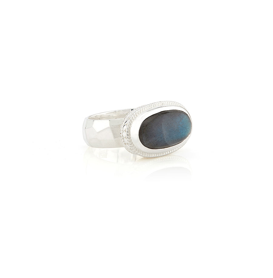 Labradorite Cocktail Ring - Silver