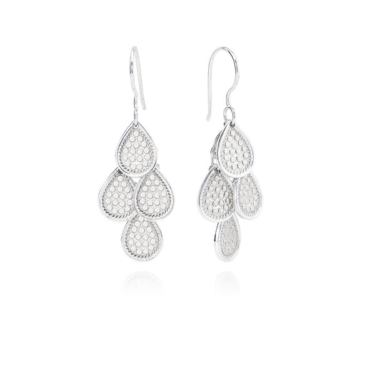 Dotted Chandelier Earrings - Silver