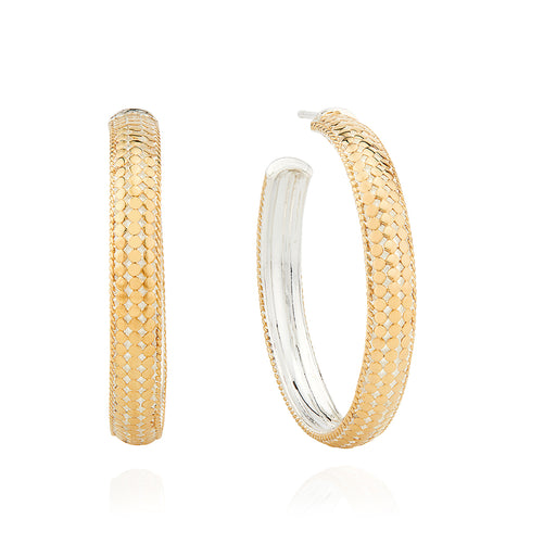 Medium Dome Hoop Earrings - Gold