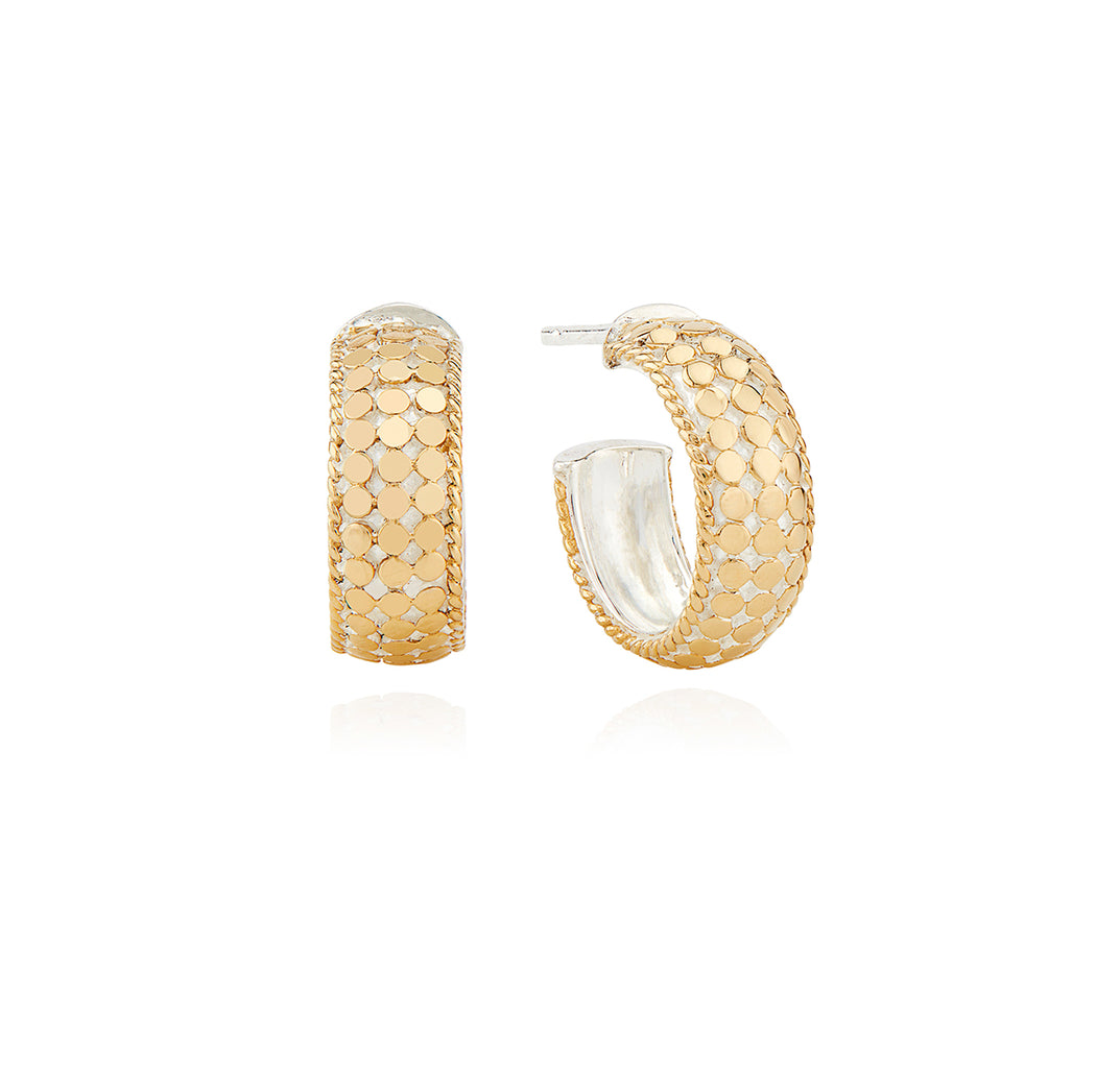 Limited Edition Small Dome Hoop Earrings - Gold