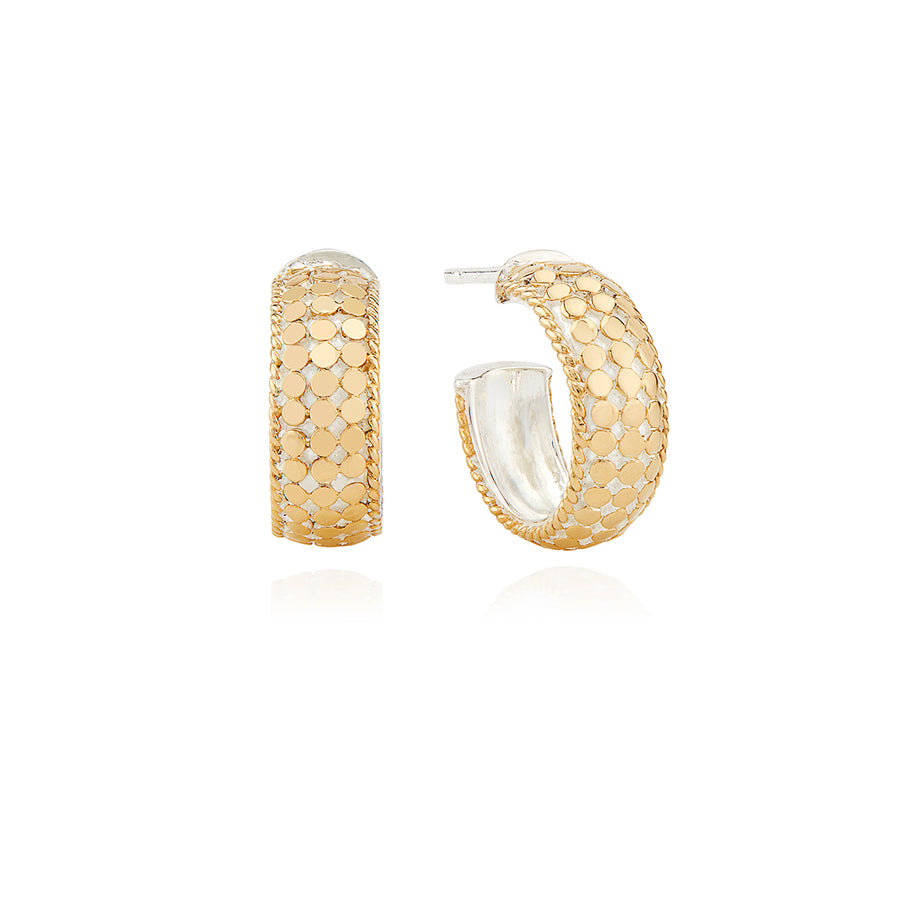 Small Dome Hoop Earrings - Gold