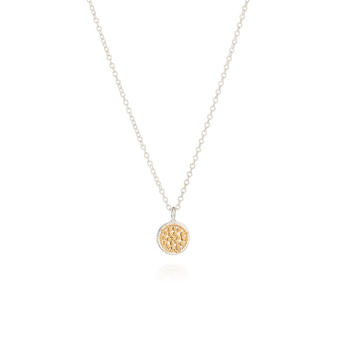 Small Dotted Disc Necklace
