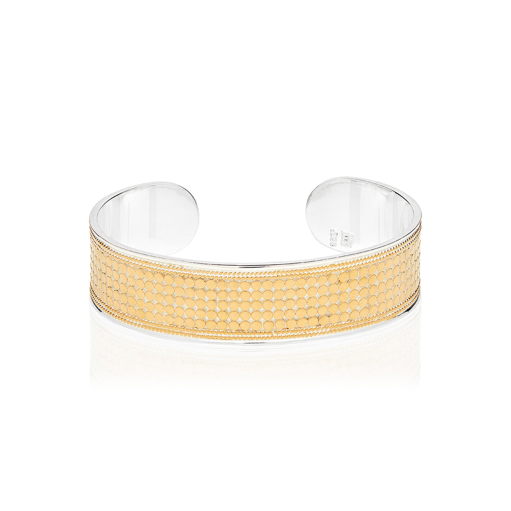 Classic Medium Dotted Cuff - Gold