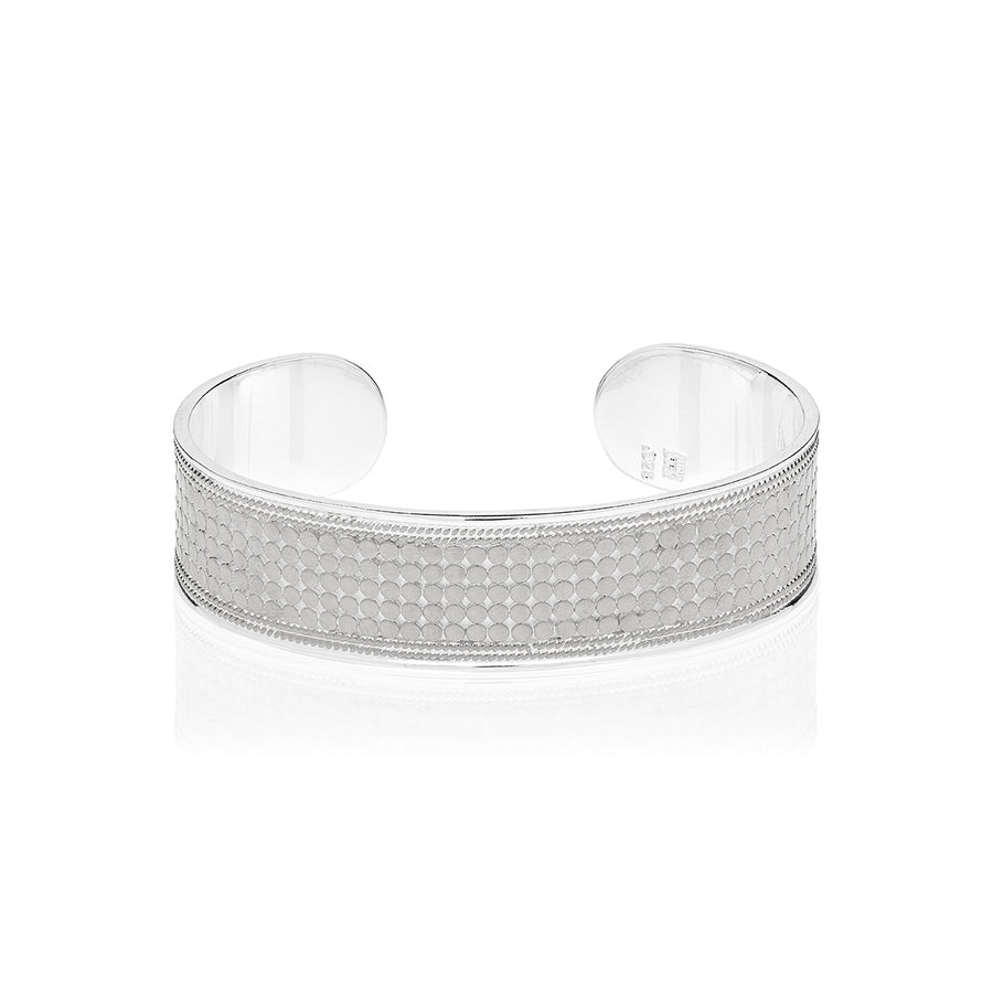 Classic Medium Dotted Cuff - Silver