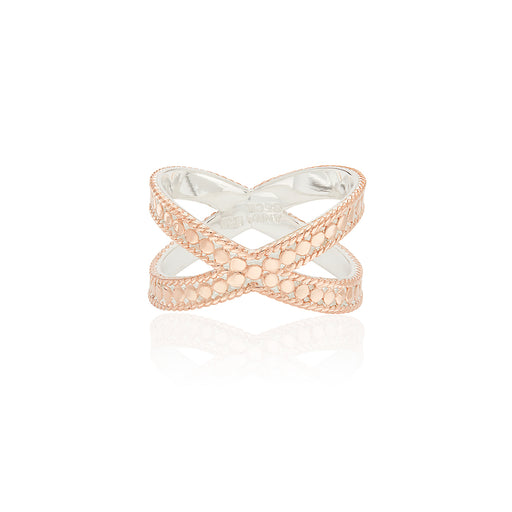 Cross Ring - Rose Gold