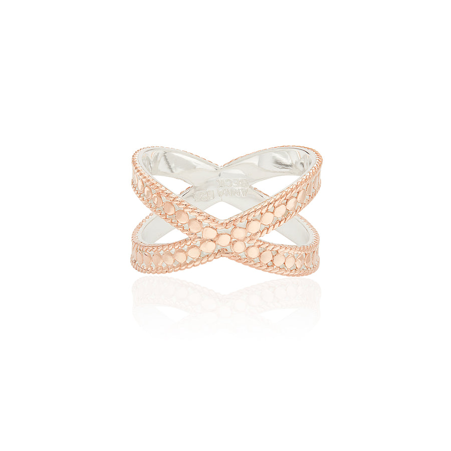 Classic Cross Ring - Rose Gold