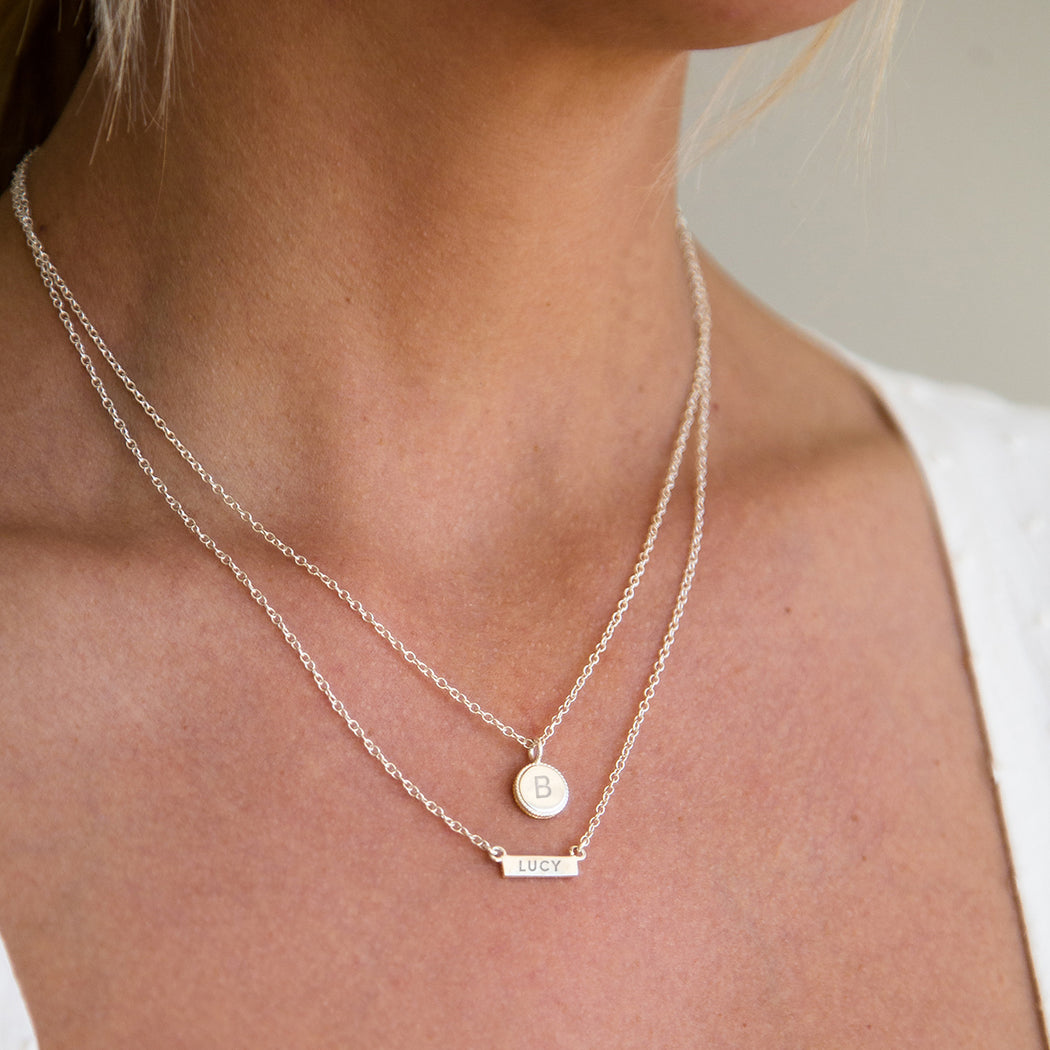 Engravable Mini Circle Necklace