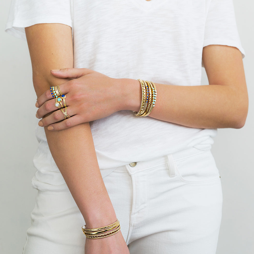 Smooth Stacking Cuff - Gold