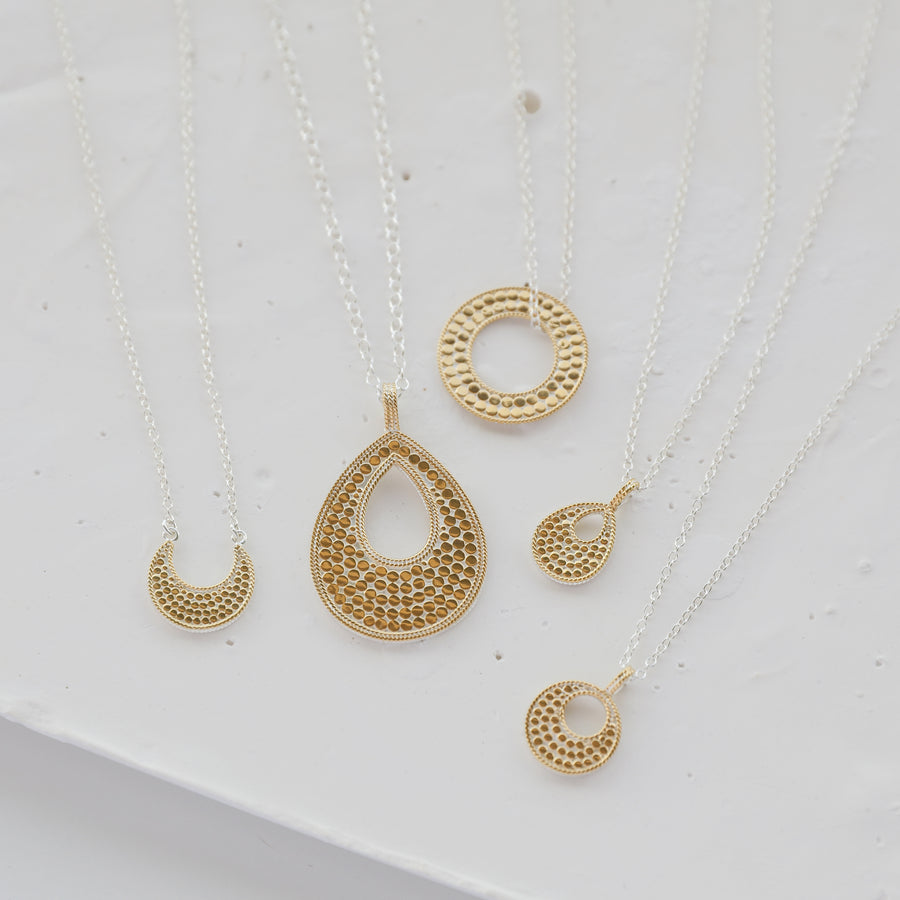 Classic Crescent Necklace - Reversible