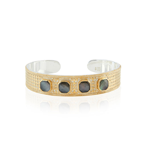Grey Quartz Multi-Stone Cuff
