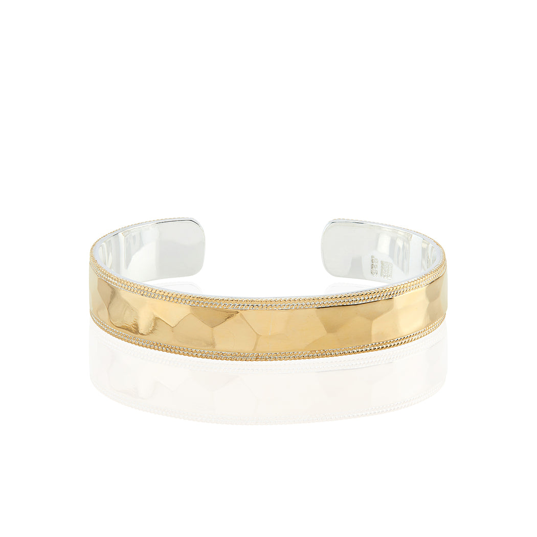 Signature Hammered Medium Cuff - Gold