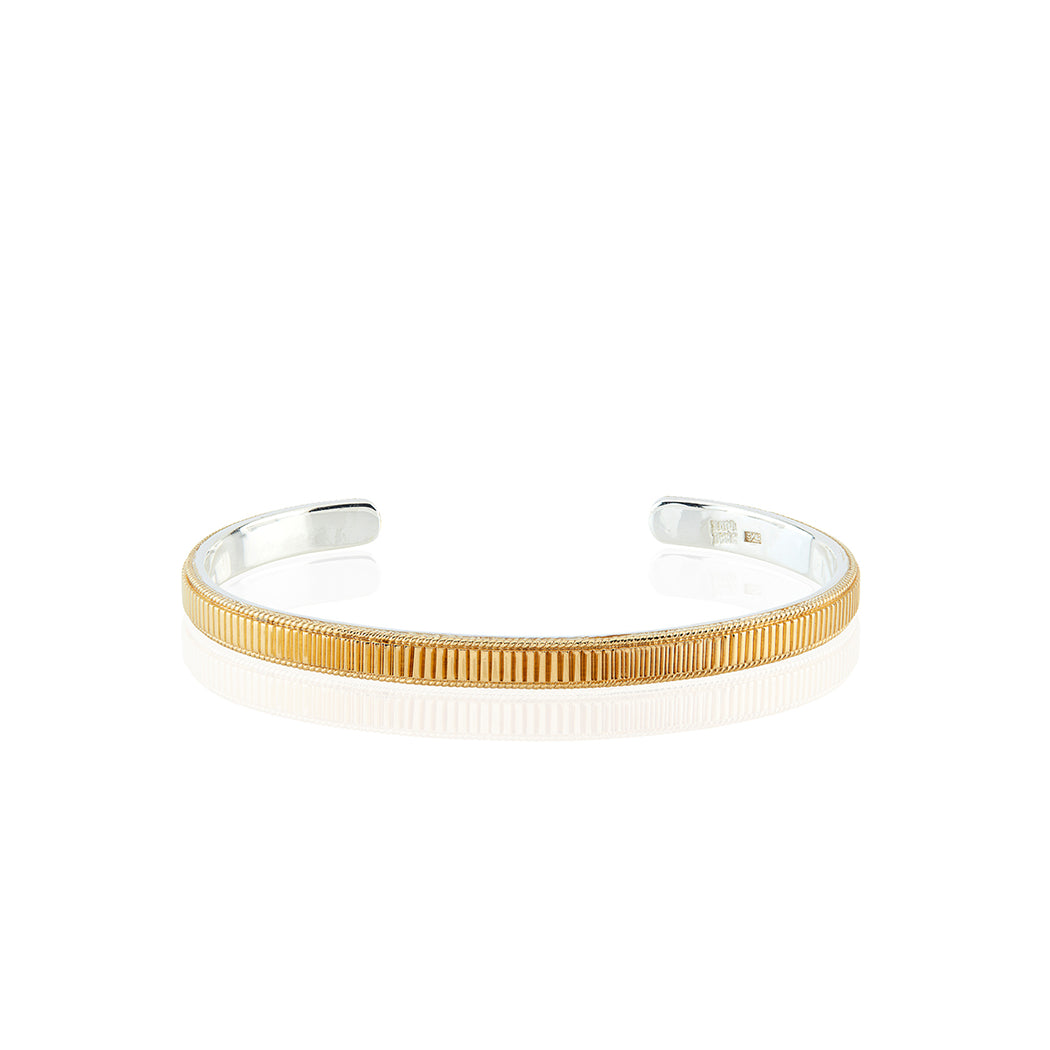Ribbed Stacking Cuff - Gold