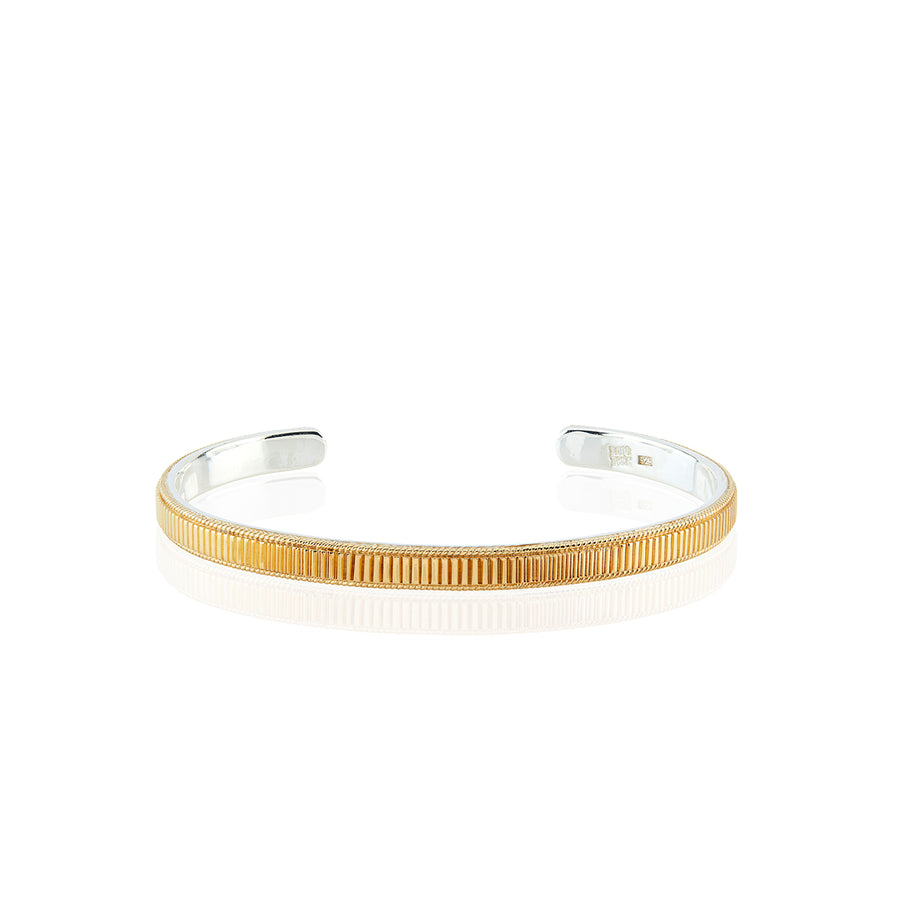 Linear Stacking Cuff - Gold