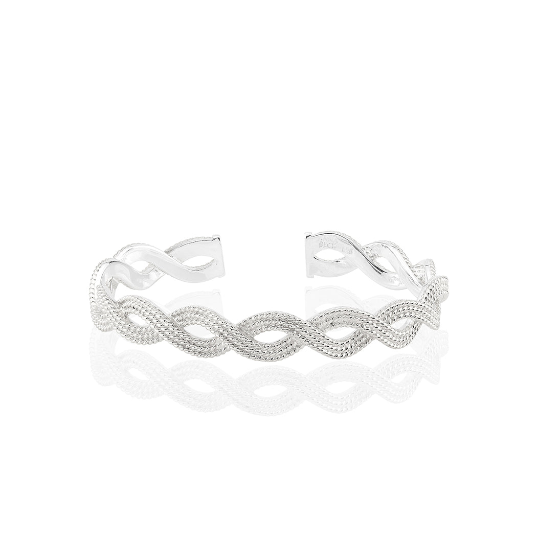 Braided Stacking Cuff - Silver