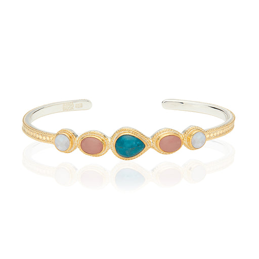 Apatite, Guava, and Moonstone Cuff