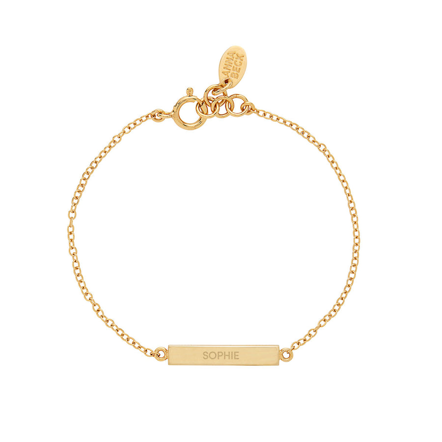 Engravable Bar Bracelet - Gold