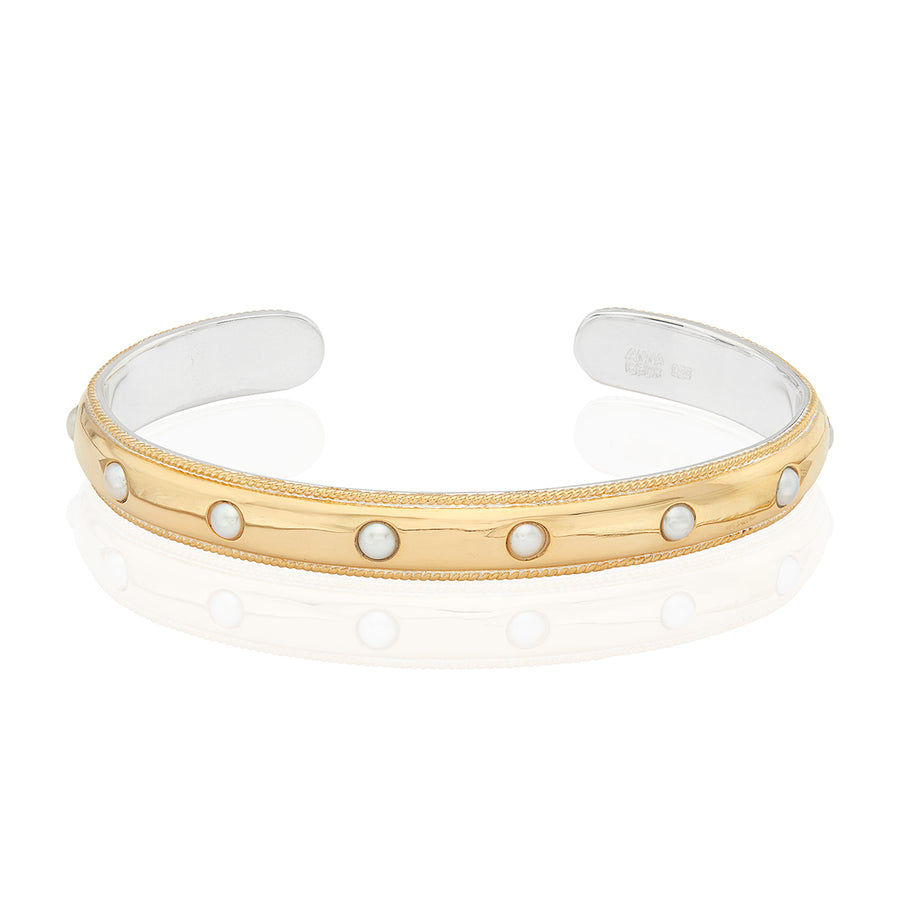 Smooth Dome Pearl Cuff