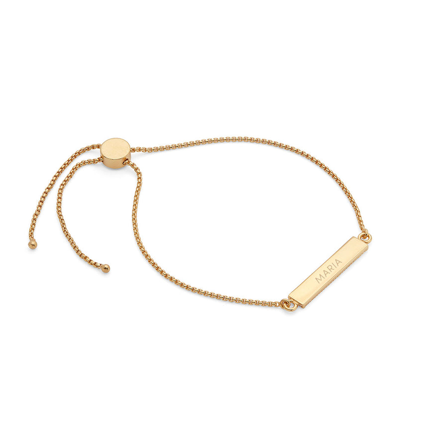 Engravable Bar Adjustable Bracelet