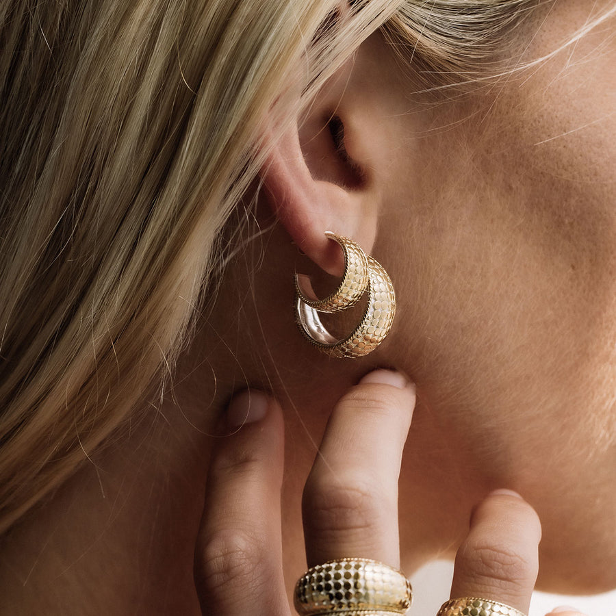 Small Tapered Hoop Earrings