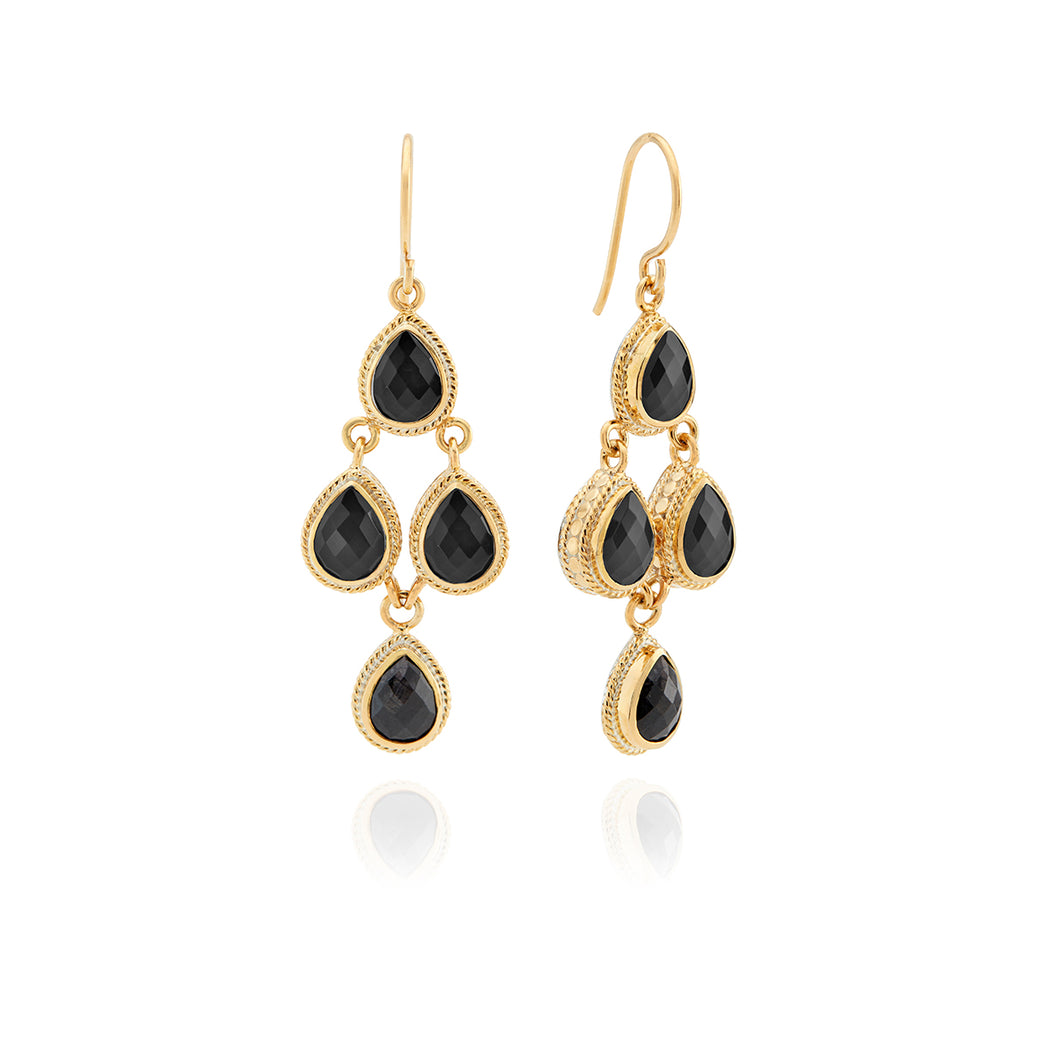 Hypersthene Chandelier Earrings
