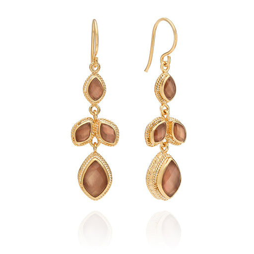 Limited Edition Pink Quartz Chandelier Earrings