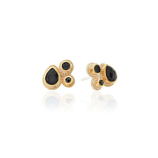 Hypersthene Cluster Stud Earrings