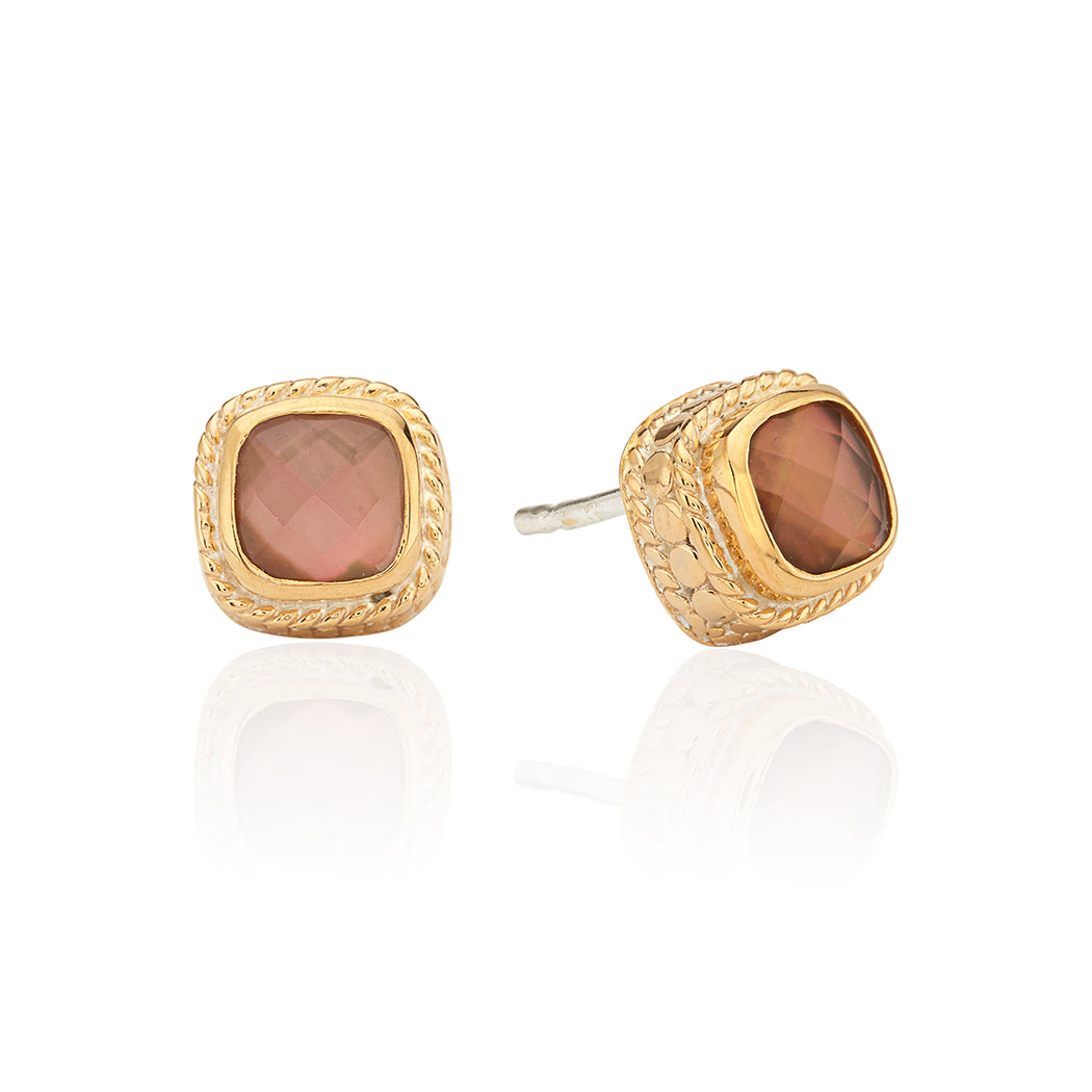 Limited Edition Pink Quartz Stud Earrings