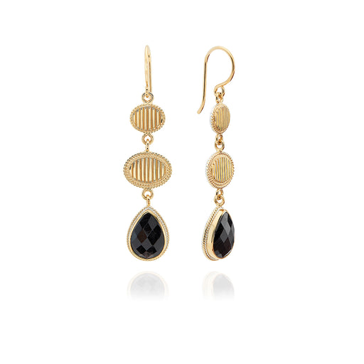 Hypersthene Triple Drop Earrings