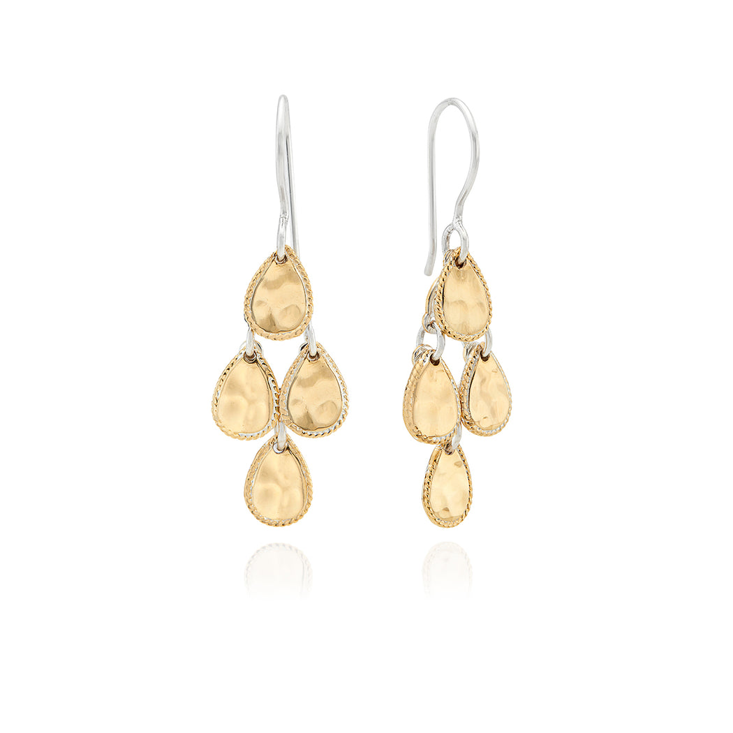 Signature Hammered Chandelier Earrings - Gold