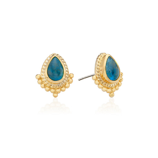 Apatite Teardrop Stud Earrings