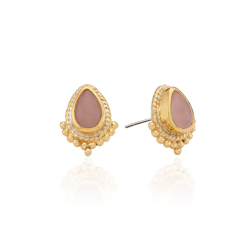 Guava Teardrop Stud Earrings