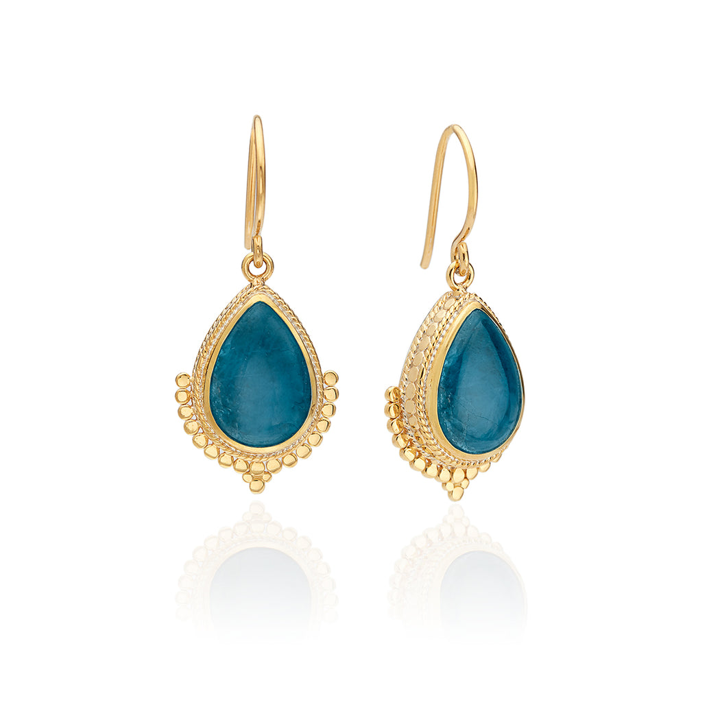 Apatite Teardrop Earrings