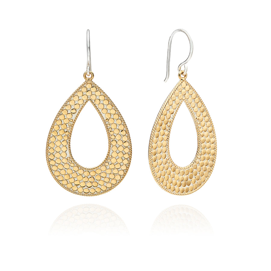 Classic Large Open Drop Earrings - Gold