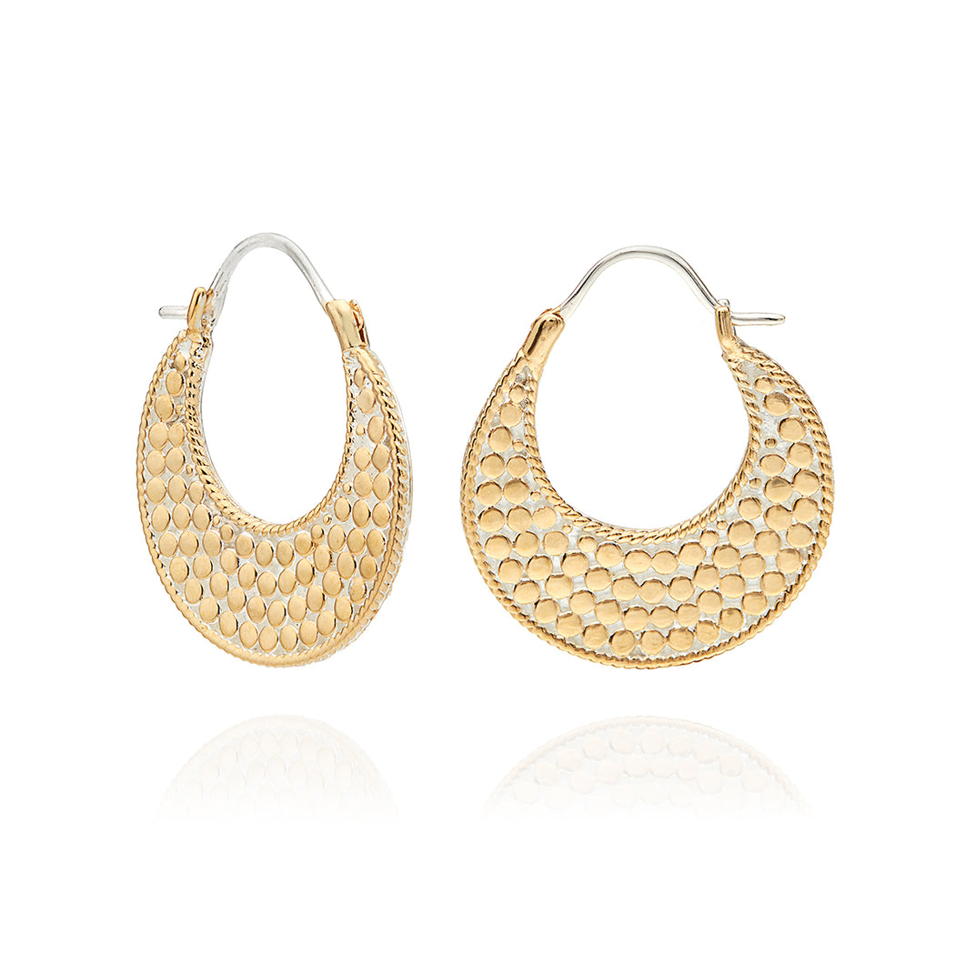 Crescent Hoop Earrings - Gold & Silver