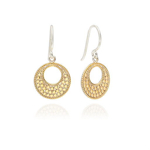 Small Open Circle Drop Earrings