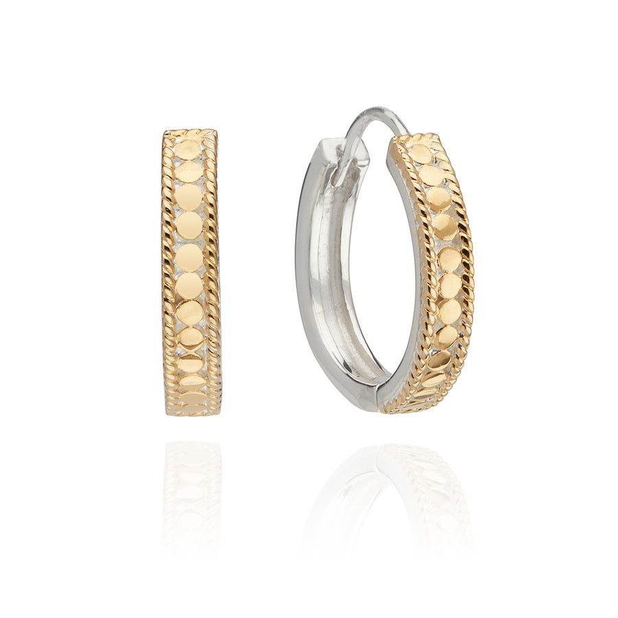 Classic Hinge Hoop Earrings - Gold & Silver