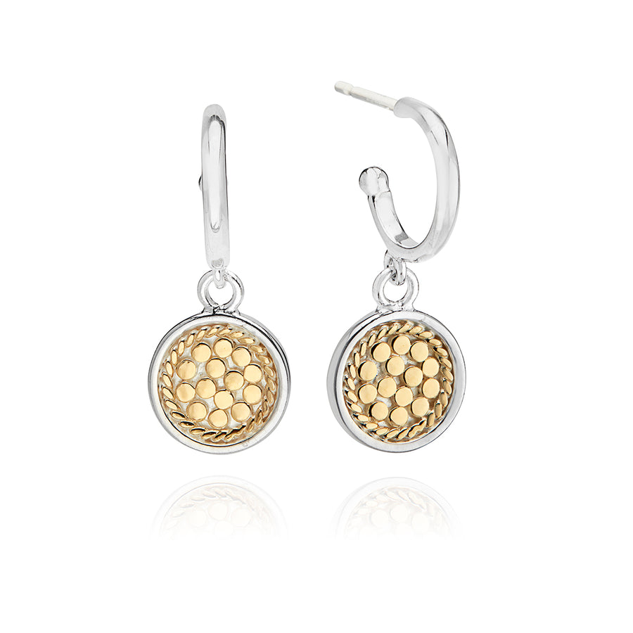 Classic Drop Disc Earrings - Gold & Silver