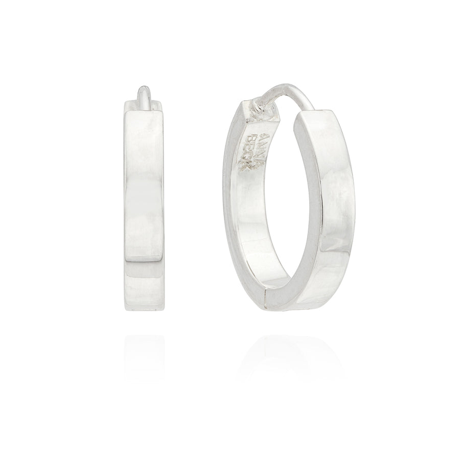 Classic Small Hinge Reversible Hoop Earrings - Gold & Silver