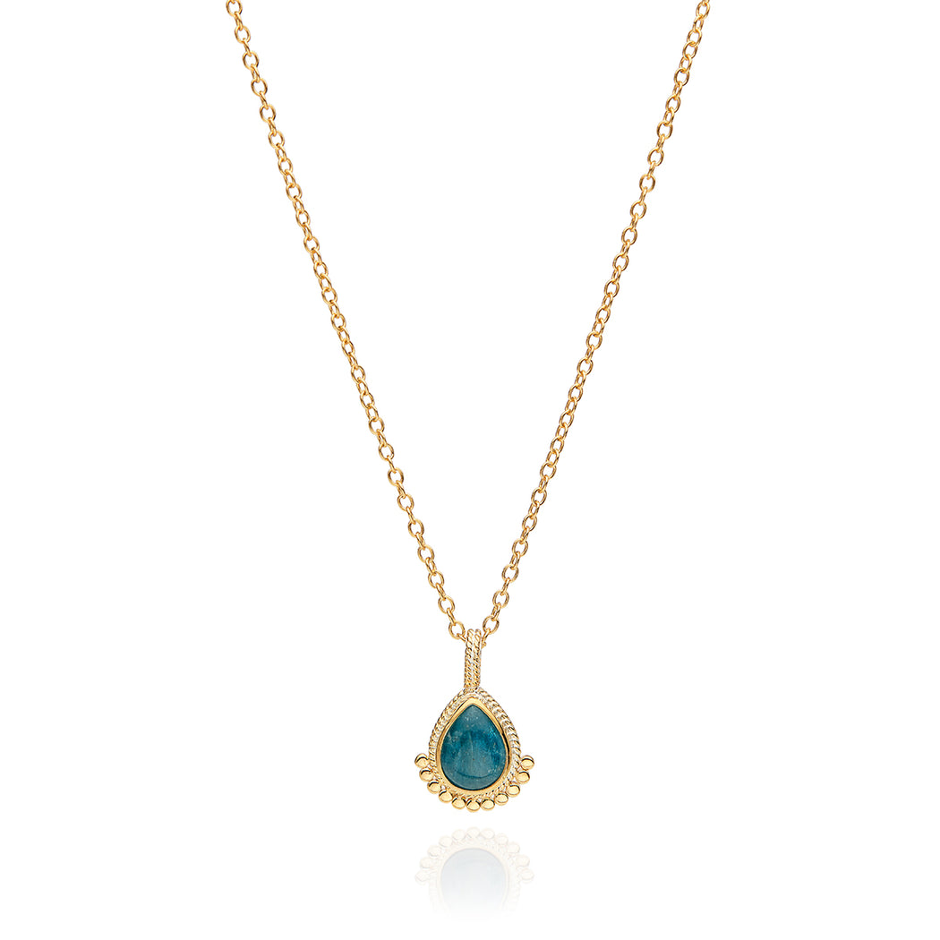 Apatite Teardrop Necklace