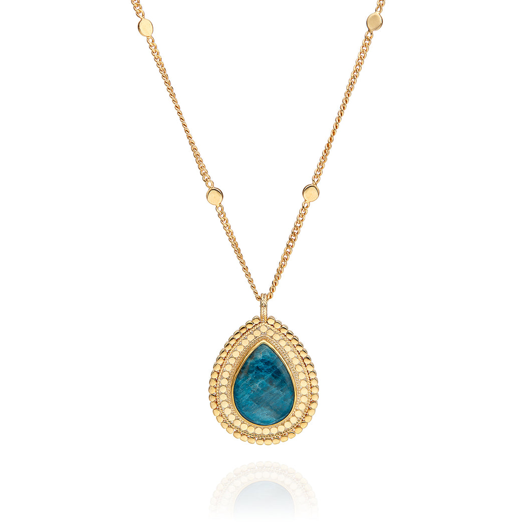 Large Apatite Pendant Necklace